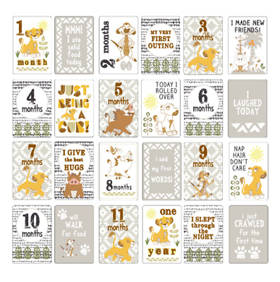 New Disney Lion King Milestone Cards Baby Pre-order
