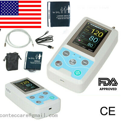 BP Holter Ambulatory Blood Pressure Monitor,USB,PC Software 24 hour,oximeter,USA