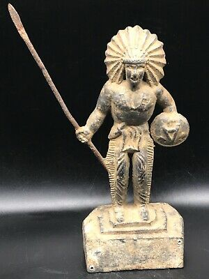 Mesuem Qulity Very Antique Old Roman Fighting Statue Sclupter With Arrow In Hand