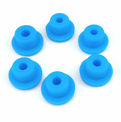 Gray Hollow Hole Plugs Silicone Blanking Masking Finishing Inserts 15mm~48.5mm