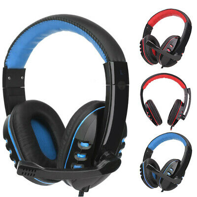 3.5mm Wired Gaming Headset Over-Ear Sports Headphones Music Earphones with MIC