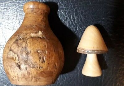 Sycamore Handcrafted Mushroom - Unique Gift + wooden bud vase