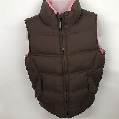 Girls Gap Kids Brown Zip Up Padded Bodywarmer Gilet Sleeveless Jacket Age 12-13