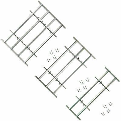 Adjustable Security Grille for Windows with 2/3/4 Solid Crossbars Protector CHIC