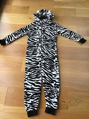 Next Girls Zebra Fluffy All In One Age 10 Years