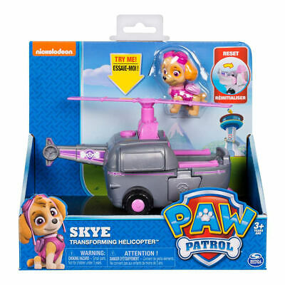 Paw Patrol Skye Transforming Helicopter Action Figure Vehicle Figurines Kid Toy