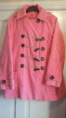 Girls Next Duffle jacket. Pink. Toggle. Size 13/14. Good Used Condition