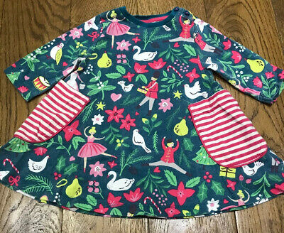 Mini Boden Girls Nutcracker 12 Days Of Christmas Age 2-3 Tunic Top / Dress