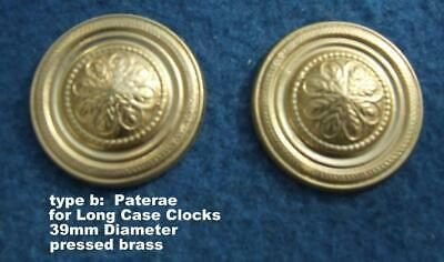 type b stamped brass long case clock swan neck pediment hhod paterae