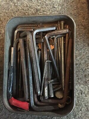 JOB LOT OLD ALLEN KEYS And Drill Bits IMPERIAL & METRIC