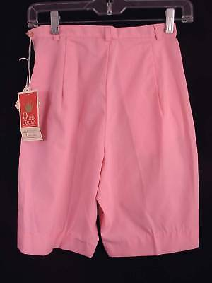 Rare Deadstock 1950'S-1960'S Pink Cotton Woman's Shorts