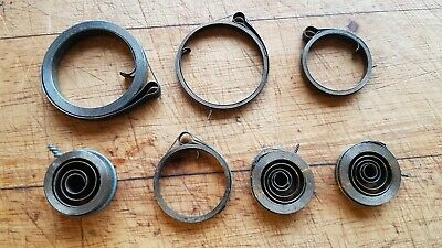 Vintage Job Lot 7 Old Stock Never Used Clock Main Springs Clock Maker Repairer