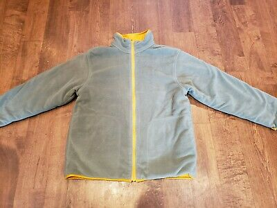 Lands End Youth Kids Reversible Fleece Nylon Insulated Jacket 10/12 Warm