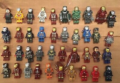 Custom Fit Lego Marvel Avengers Iron Man War Machine Minifigure Bundle 40