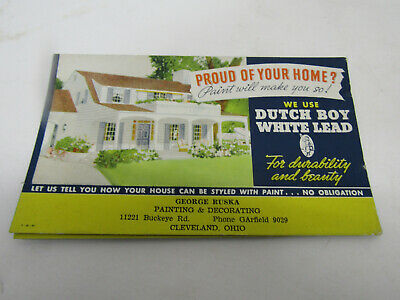 Old Advertising Sign Cardboard Dutch Boy Paint Ad Proud Of Your Home