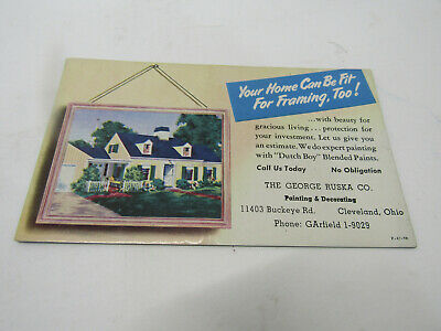 Old Advertising Sign Cardboard Dutch Boy Paint Your Home Can Be Fit For Framing