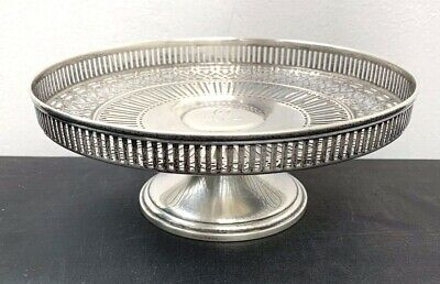 Vintage Tiffany & Co. Sterling Silver Footed Pierced Compote Center Piece MINT