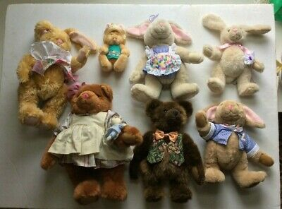 Vintage Lot Of 7 The Bialosky Treasury Bears & Rabbits  With Tags