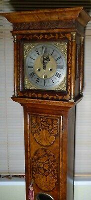 "Antique Walnut Floral Marquetry "" Jackson ""  Longcase / Grandfather Clock"