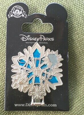 """Disney - Frozen Mirror - Hinged Stained Glass Snowflake """"Let It Go"""" Elsa Pin"""