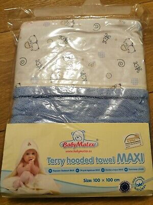 Large Baby Hooded Towel 100x100cm 100% Cotton