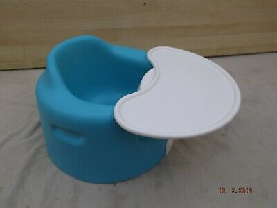 Blue Bumbo Baby Seat With Removable Feeding Tray,Very Clean Comfortable Booster