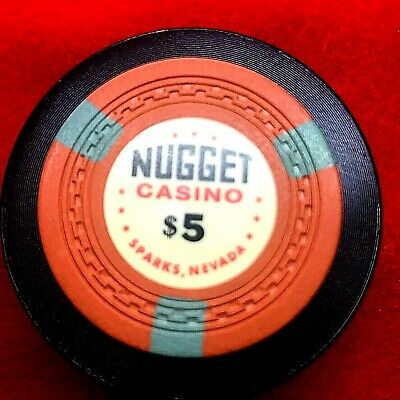 $5 NUGGET SPARKS NV 1st iss ZIGZAG MOLD VG 1960 R6
