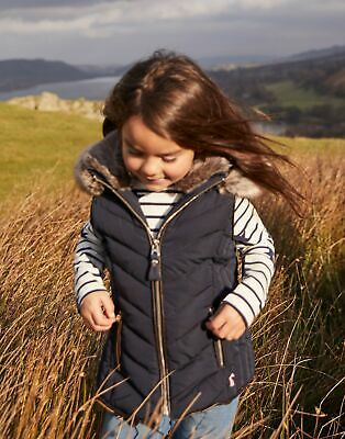 Joules Girls Alanis Quilted Gilet Jacket 3 12 Years in MARINE NAVY Size 3yr