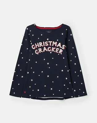 Joules 207173 Harbour Sequin in FRENCH NAVY STAR Size 18