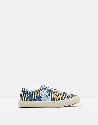 Joules Women Coast Pump   Canvas Lace Up Trainers in  Size Adult Size 4