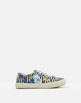 Joules Women Coast Pump   Canvas Lace Up Trainers in  Size Adult Size 6