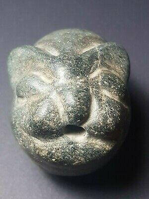 Neareastern very rare old stone lion amuelt bead