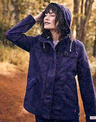 Joules Womens Coast Waterproof Coat in FRENCH NAVY Size 10