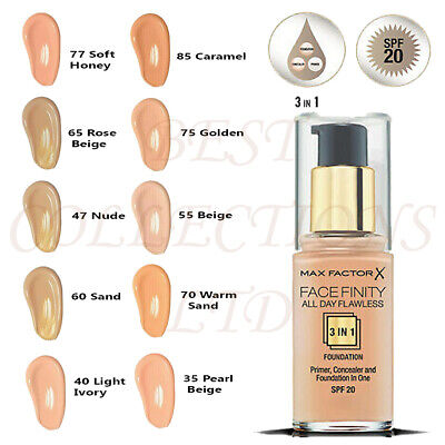 Max Factor Facefinity All Day Flawless 3 In 1 Foundation 30Ml- Choose Your Shade