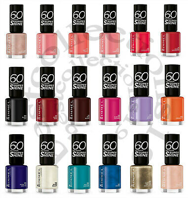 Rimmel 60 Seconds 8Ml Nail Polish - Brand New - Choose Shade From