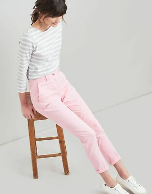 Joules Womens Hesford Chino in PALE PINK Size 18