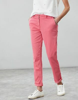 Joules Womens Hesford Chino in PINK Size 10