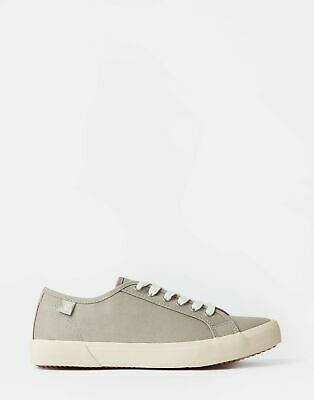 Joules Womens Coast Canvas Trainers in GREY Size Adult 7