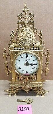 Imperial Ornate Brass Mantel Clock Franz Hermle FHS 130-070 German Movement
