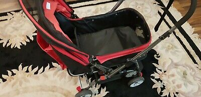 Dodo Pet 6 Wheel Pet Dog Cat Stroller Pushchair Buggy Pram Travel Cage Carrier