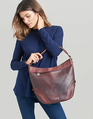 Joules Womens Lowesby Leather Hobo Bag in OXBLOOD in One Size