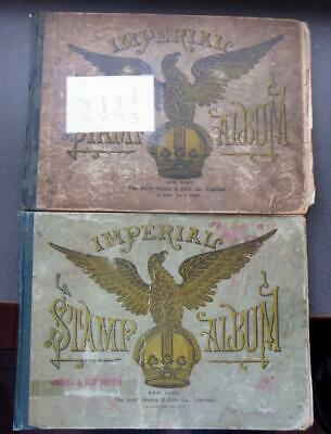 Worldwide Stamp Collection in Two Old Scott Imperial Albums - No Reserve!
