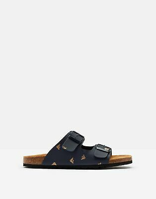 Joules Womens Penley Two Strap Sliders in NAVY BEES Size Adult 4