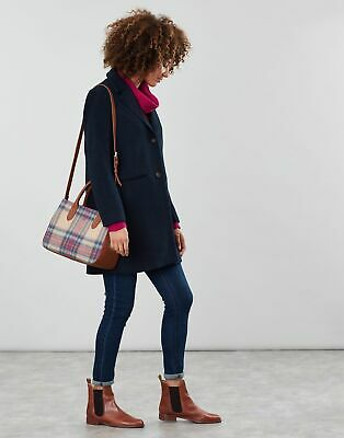Joules Womens Thernwell Tweed Grab Bag in MULTI PINK CHECK in One Size