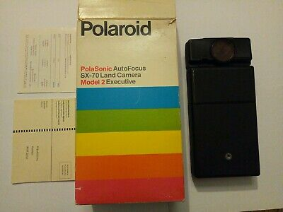POLAROID PolaSonic Auto Focus SX-70 Land Camera Model 2 Executive