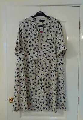 Marks and spencer star print dress size 18 new with tag