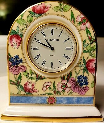 Wedgwood Bone China Sarah Small Fully Working Clock 1996 New Battery Excellent