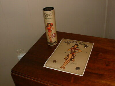 Sailor Jerry Limited Edition Collectible Poster with Canister