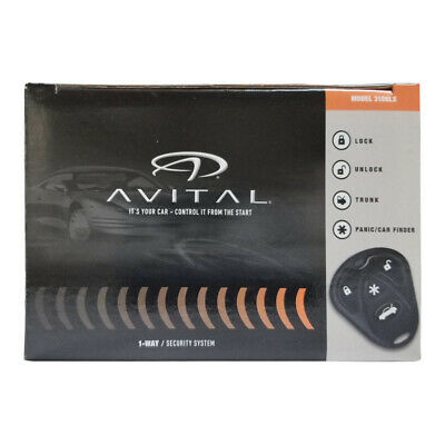 Avital 3100LX 3-Channel Keyless Entry Car Alarm w/ 2 Remotes