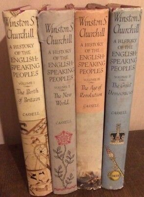Winston S.Churchill A History Of The English Speaking Peoples Vol 1-4 inc 2x1.Ed